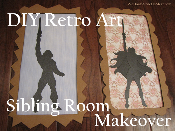 DIY Retro Art Sibling Room Makeover